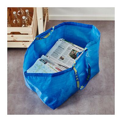 2 Ikea Large Frakta Shopping Bag Reusable For Laundry Tote Grocery Storage