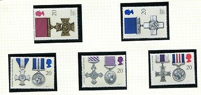 GB Stamps 1990 Gallantry Awards (SG 1517-1521) - MINT