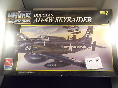 Lot 40: AMT ERTL Wings Aviation Colection Douglas AD-4W Skyraider 1:48 Scale