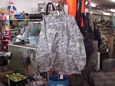 Us Army Military Orc Improved Acu Rainsuit Wet Weather Rain Hooded Parka X Large