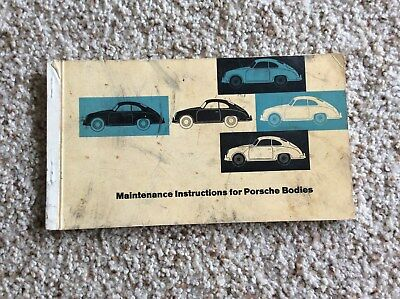 1950s Porsche Maintenance instructions for porsche bodys catalogue