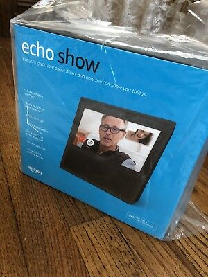 "Amazon Echo Show With Alexa Voice Control, Bluetooth, WiFi, 7"" Touchscreen BLACK"