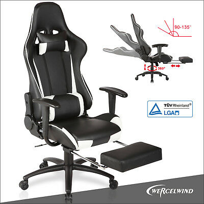 Executive Office Chair Racing Car Style Seats Computer Chair Footrest Rocker