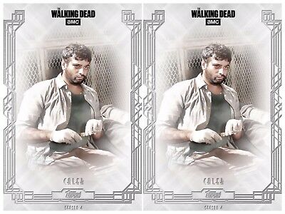 2x FALLEN WAVE 2 CALEB The Walking Dead Trader Digital Card