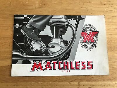 Nice 1958 Matchless Motorcycles Catalogue & Price List