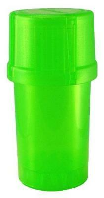 MedTainer Storage Container w/ Built-In Grinder - Green