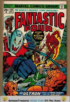 Fantastic Four #150 (9.0) VF/NM Ultron Appearance Avengers 1974 Key Issue