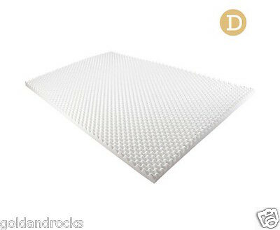 5 CM Foam Underlay Protector DOUBLE Size Deluxe Egg Crate Bed Mattress Topper