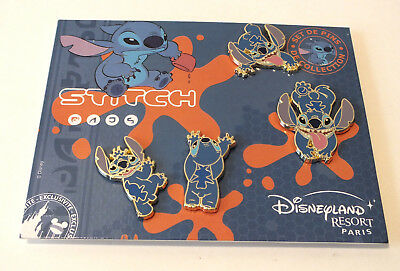 Disney Pin Trading Stitch Booster Pin Set Disneyland Paris Alien Lilo Stitch Set
