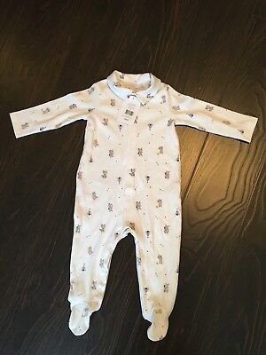 NWT Baby Boys The Little White Company Warrier Sleepsuit size 9-12 months