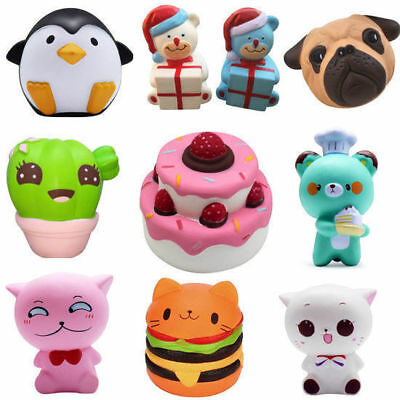 Squishies Scented Charms Soft Squishy Toy Penguin Fries Cute Animal Food