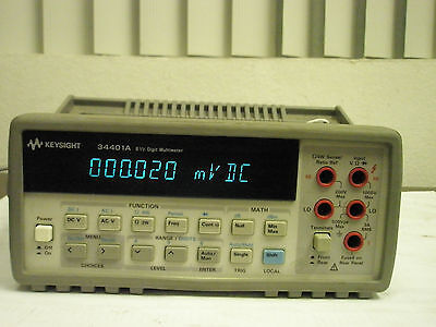 Keysight Agilent Hp 34401A 6 1/2 Digit Multimeter, Calibrated To Nist