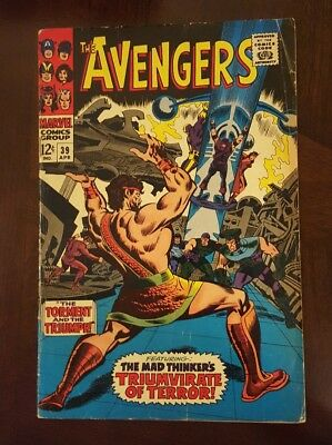 The Avengers #39 (Apr 1967, Marvel) Hercules appears, Mad Thinker