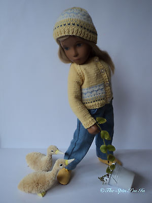 """Springtime Friends"" Knitted Outfit for Sasha Dolls by ""The Spin I'm In."""