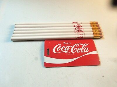 Lot of 6 Diet Coke Pencil And Coca Cola ID Holder