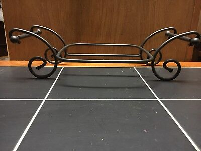 Longaberger Wrought Iron 8 x 8 Baking Dish Holder Caddy Retired