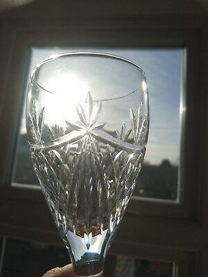 """Pair of Edinburgh Crystal """"BEAULY"""" 19 cm Wine Goblets (total of 6 available)"""