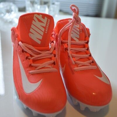 New Womens Nike Speedlax Lacrosse Cleats Coral White Size 8.5