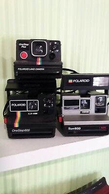 polaroid cameras estate lot