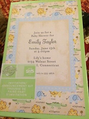 Zoo Animals In Invitation Announcement Kit