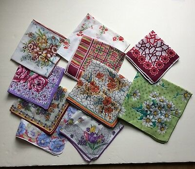 Lot of 45+ Vintage Handkerchiefs Hankies -  Lace,  Floral, Embroidered Mixed Lot