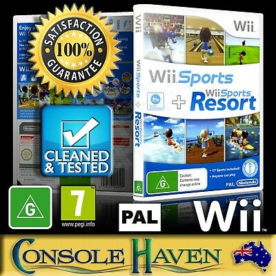 WII SPORTS AND Wii Sports Resort Wii Game NEW - $53 95