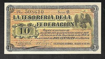 Mexico - Sonora - Old 10 Centimes Note - 1914 - S1058 - Unc.