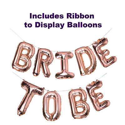 Bride to be Balloons Banner | Rose Gold Bridal Shower Decorations | Foil Letters