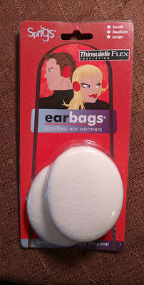 Sprigs Cream Earbags With Thinsulate Bandless Ear Warmers Size Medium