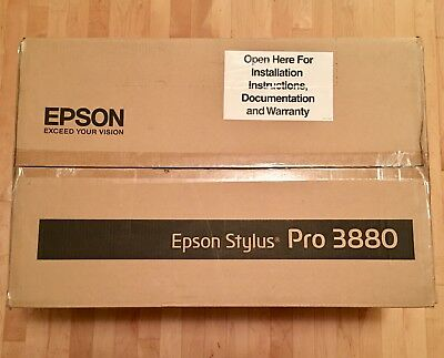 Epson Stylus Pro 3880 Large Format Printer Works but For Parts and or repair