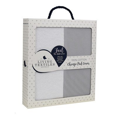 Living Textiles Change Pad Cover Jersey STRIPE