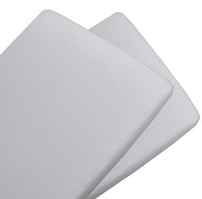 Living Textiles 2pk Cradle Fitted Sheet Jersey WHITE
