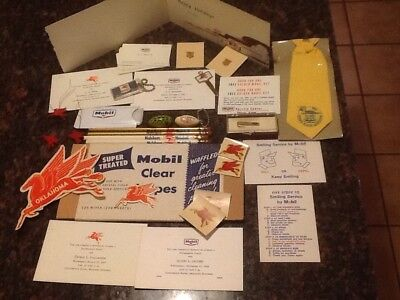 Mobil Oil Company Advertising Memorabiia And Other Mobil Items