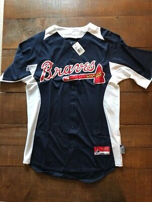 Atlanta Braves Majestic Cool Base Genuine MLB Jersey W/ Tags Size S Small