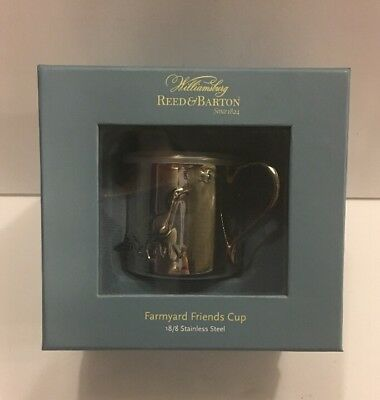 Williamsburg Reed & Barton Farmyard Friends Childs Stainless Steel Cup With Lid