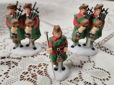 1997 Dept. 56 Ten Pipers Piping #10 12 Days of Dickens Village Set of 3