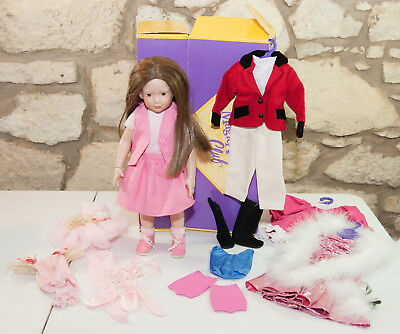 "Magic Attic Club Heather Doll w/extra outfits, accessories & shoes 3+ 18"" Doll"