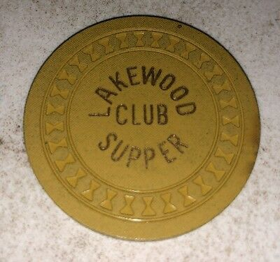 Rare Lakewood Supper Club $25 Illegal Casino Chip Lakewood INDIANA 2.99 Shipping