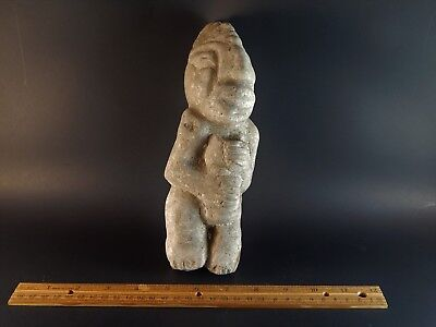 Tribal Ethnic African Central American Pre-Columbian Carved Stone Figure 9.25""