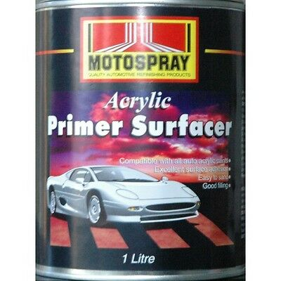 Motospray Acrylic Primer Surfacer Grey 4L - Pick Up Only (No Delivery)