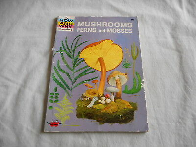 How and Why Wonder Book Of Mushrooms Ferns and Mosses No 5056
