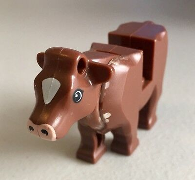RARE! Lego Cow Body with Pink Muzzle and White Spot on Head Pattern #64452pb01