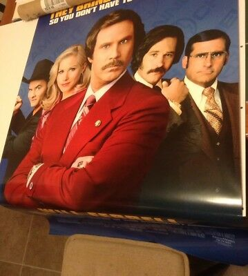 Anchorman Poster And Pin Lot Will Ferrell