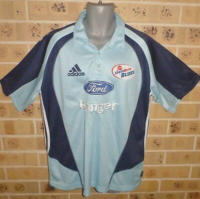 2XL Mens SpeedBlitz Blues Cricket NSW Shirt Jersey Pre Owned Extremely Clean
