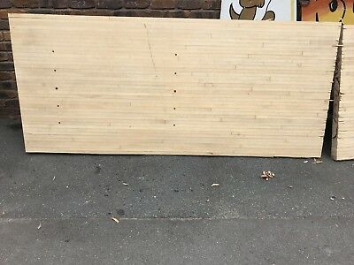 Canadian Rock Maple Timber Slab Out Of Bowling Alley.