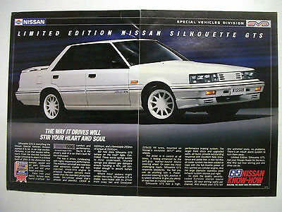 Nissan Skyline Silhouette Gts 2 Page Colour Magazine Advertisement