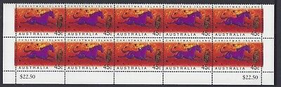 Christmas Island 2002 Year of the Horse 45c Block of 10 Stamps