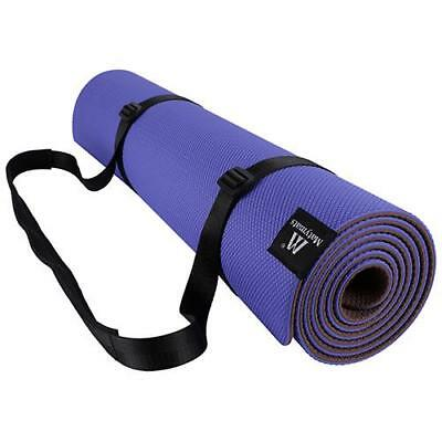 High Density Non Slip Yoga Mat Fitness Pilates Workout Mats With Carrying Strap