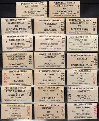 New South Wales 1970 - 1995 Railway White 20 Tickets #539 $20