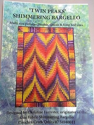 Twin Peaks - Shimmering Bargello Quilting Kit